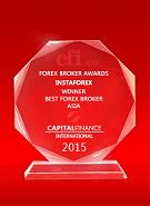 Лучший брокер в Азии 2015 по версии Capital Finance International