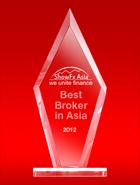 Лучший Брокер Азии 2012 по итогам выставки ShowFx Asia