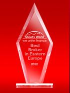 Лучший Брокер в Восточной Европе 2012 по итогам выставки ShowFx World