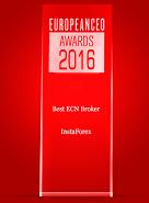Лучший ECN-брокер 2016 года по версии журнала European CEO