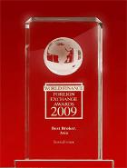 Лучший брокер Азии 2009 по версии World Finance Awards