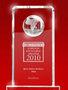 ИнстаФорекс – лучший брокер Азии 2010 года по версии World Finance Awards